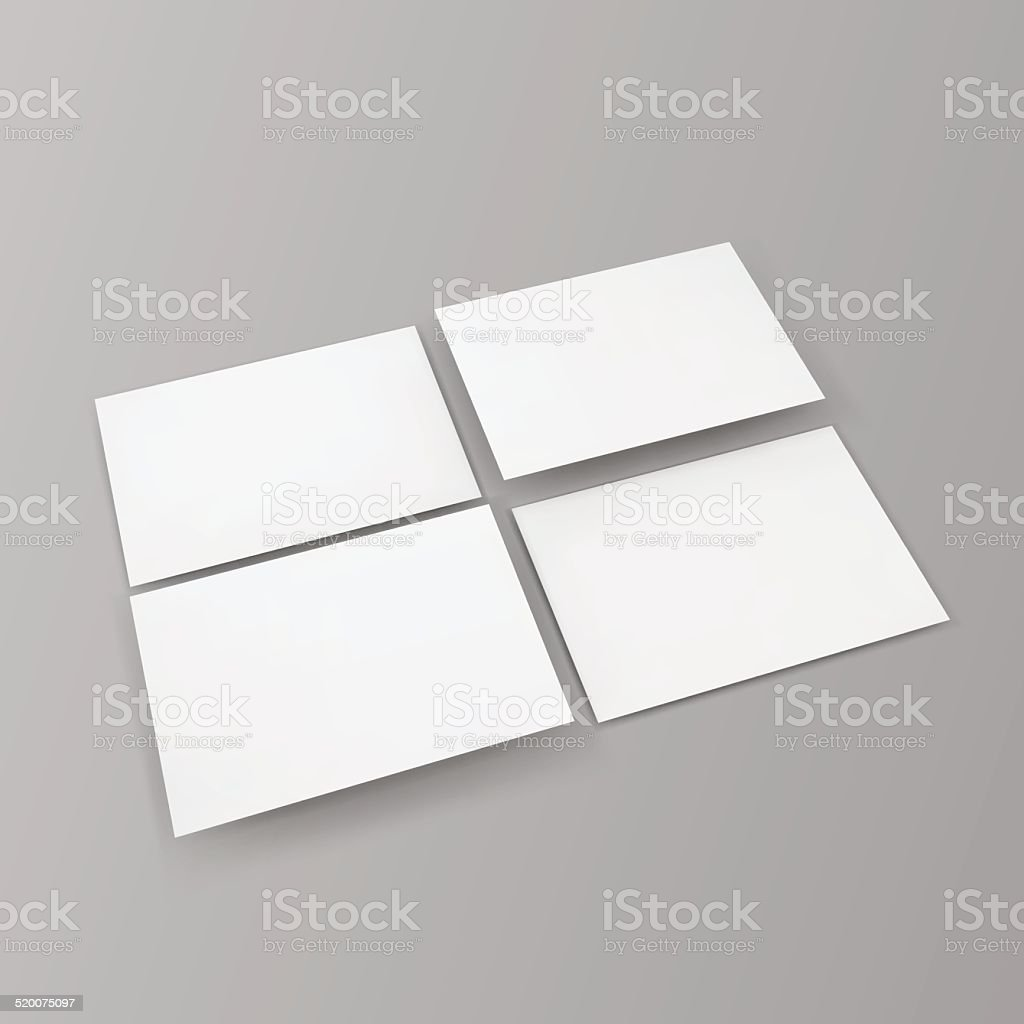 Blank business cards. vector art illustration