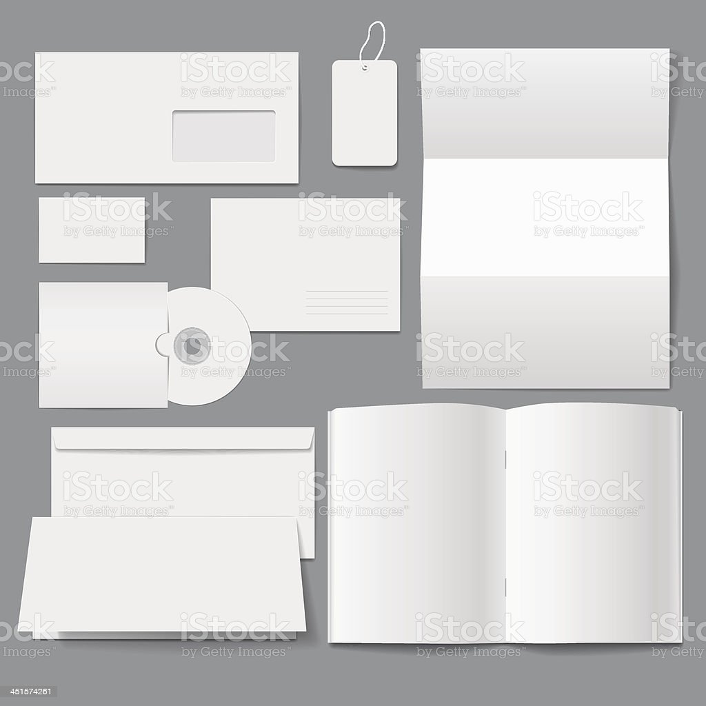 Blank Business Corporate Templates royalty-free stock vector art