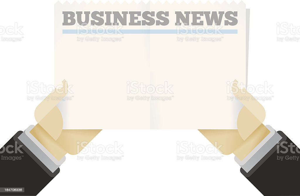 Blank Business News newspaper royalty-free stock vector art