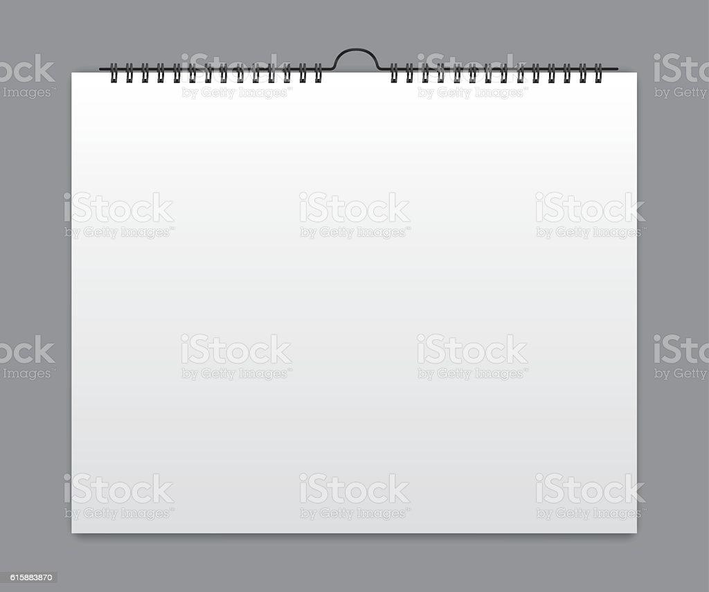 Calendrier vierge design de la carte stock vecteur libres - Calendrier design ...