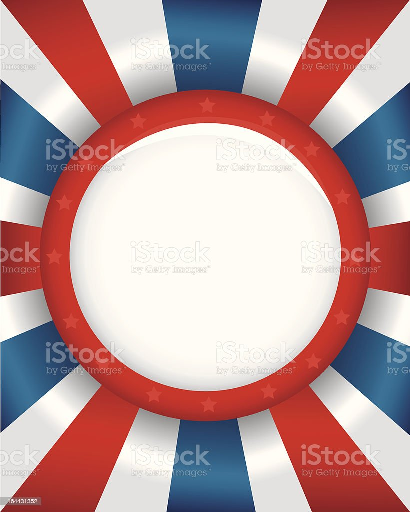 Blank Campaign Button royalty-free stock vector art