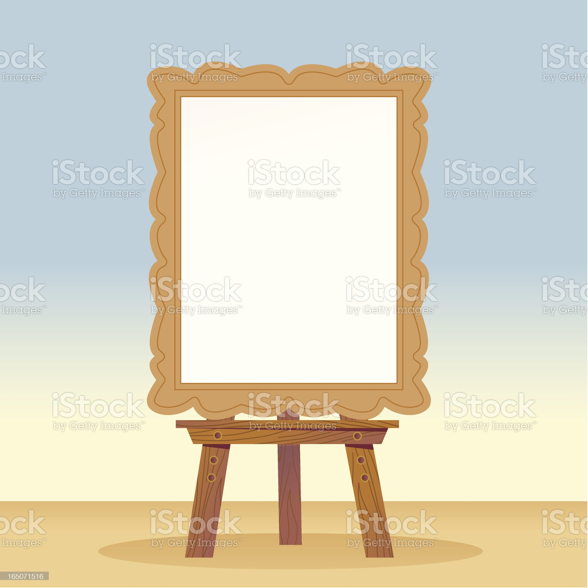 Blank Canvas royalty-free stock vector art