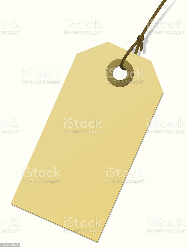 Blank cardboard tag royalty-free stock vector art