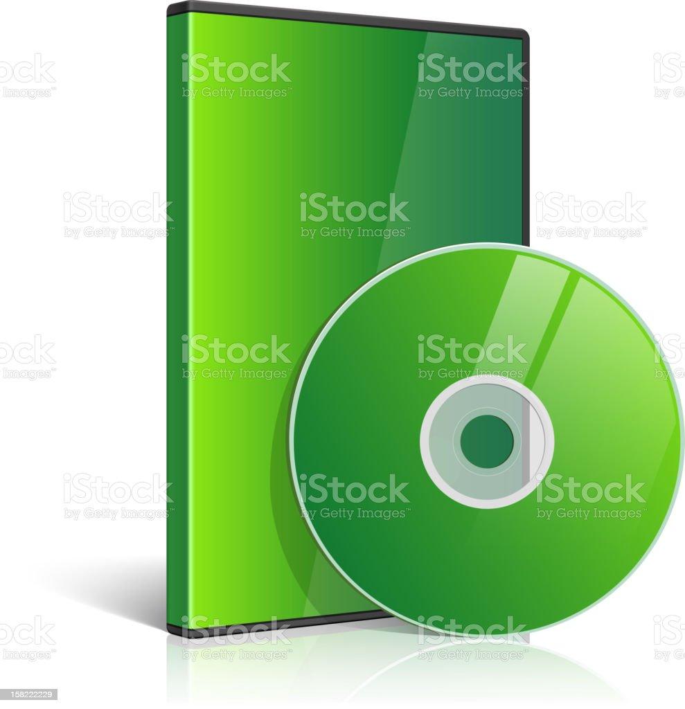 Blank Case for DVD Disk vector art illustration