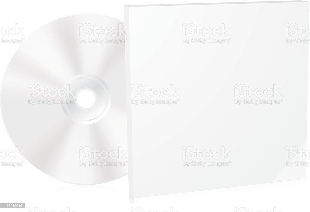 Blank CD box vector art illustration