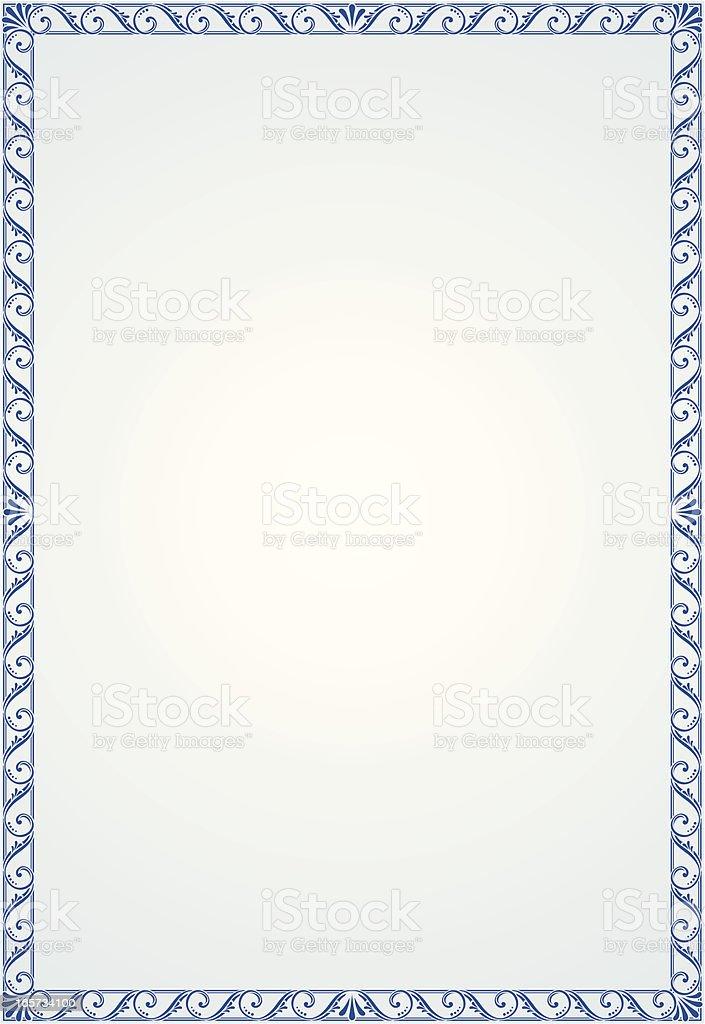 Blank Certificate royalty-free stock vector art
