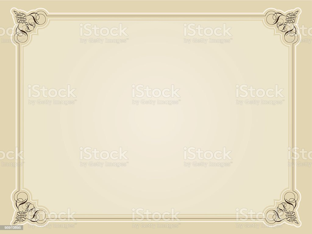 Blank certificate royalty-free stock vector art