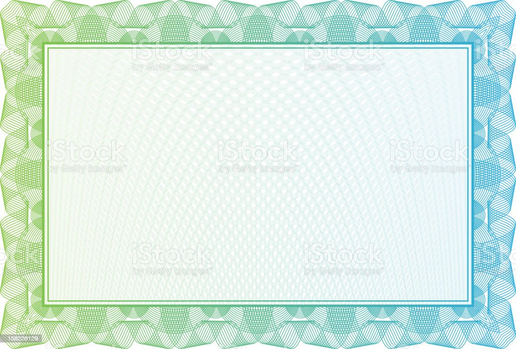 Blank Certificate With Green Border Stock Vector Art