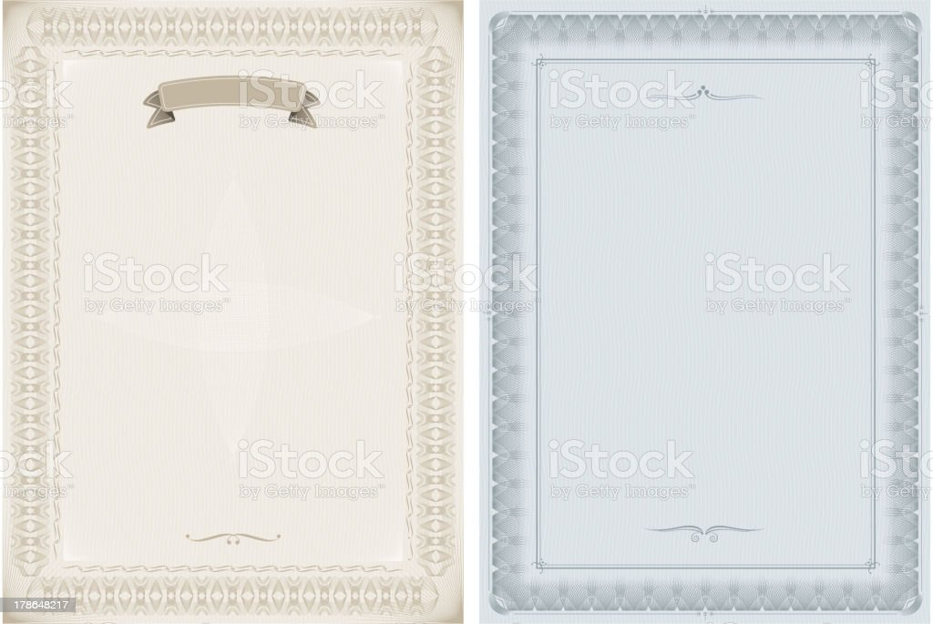 blank certificates vector art illustration
