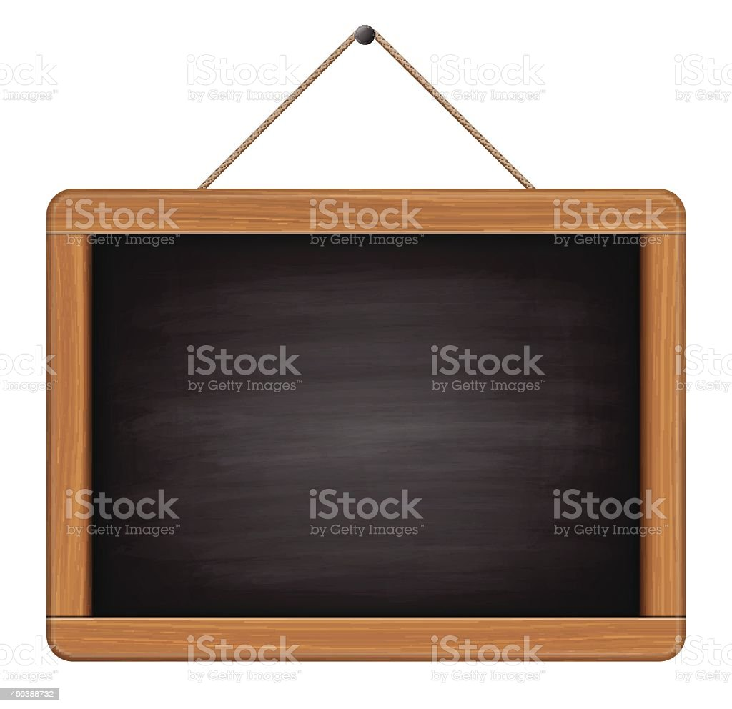 blank chalkboard vector art illustration