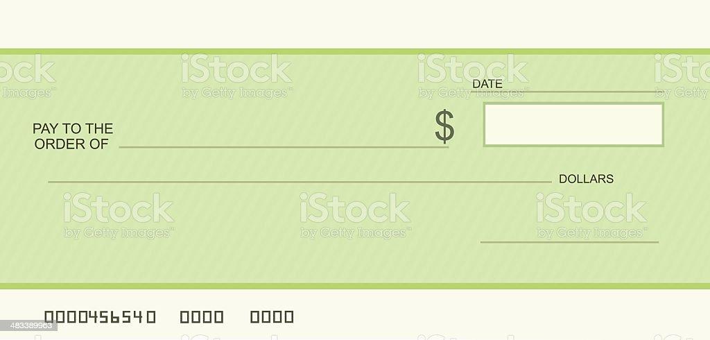 Blank cheque vector art illustration