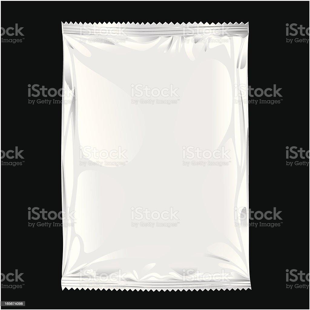 Blank Chips Bag vector art illustration