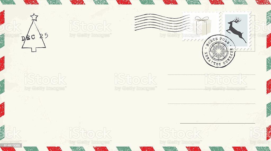 Blank Christmas Postcard vector art illustration