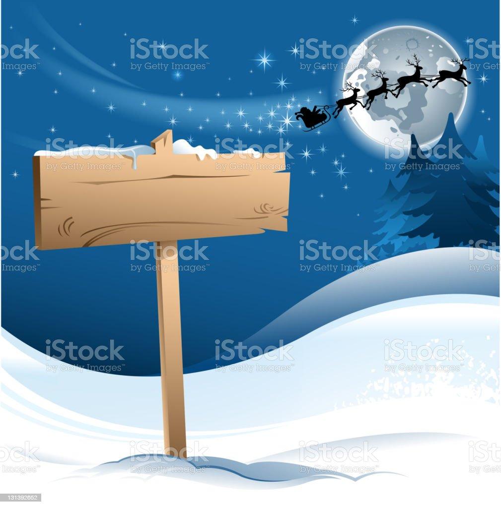 blank christmas sign royalty-free stock vector art