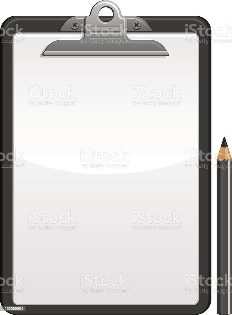 Blank clipboard royalty-free stock vector art