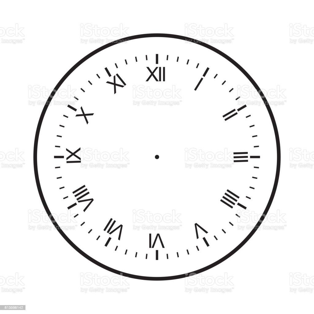 worksheet Empty Clock empty clock face venn diagrams worksheet blank isolated on white background vector stock white