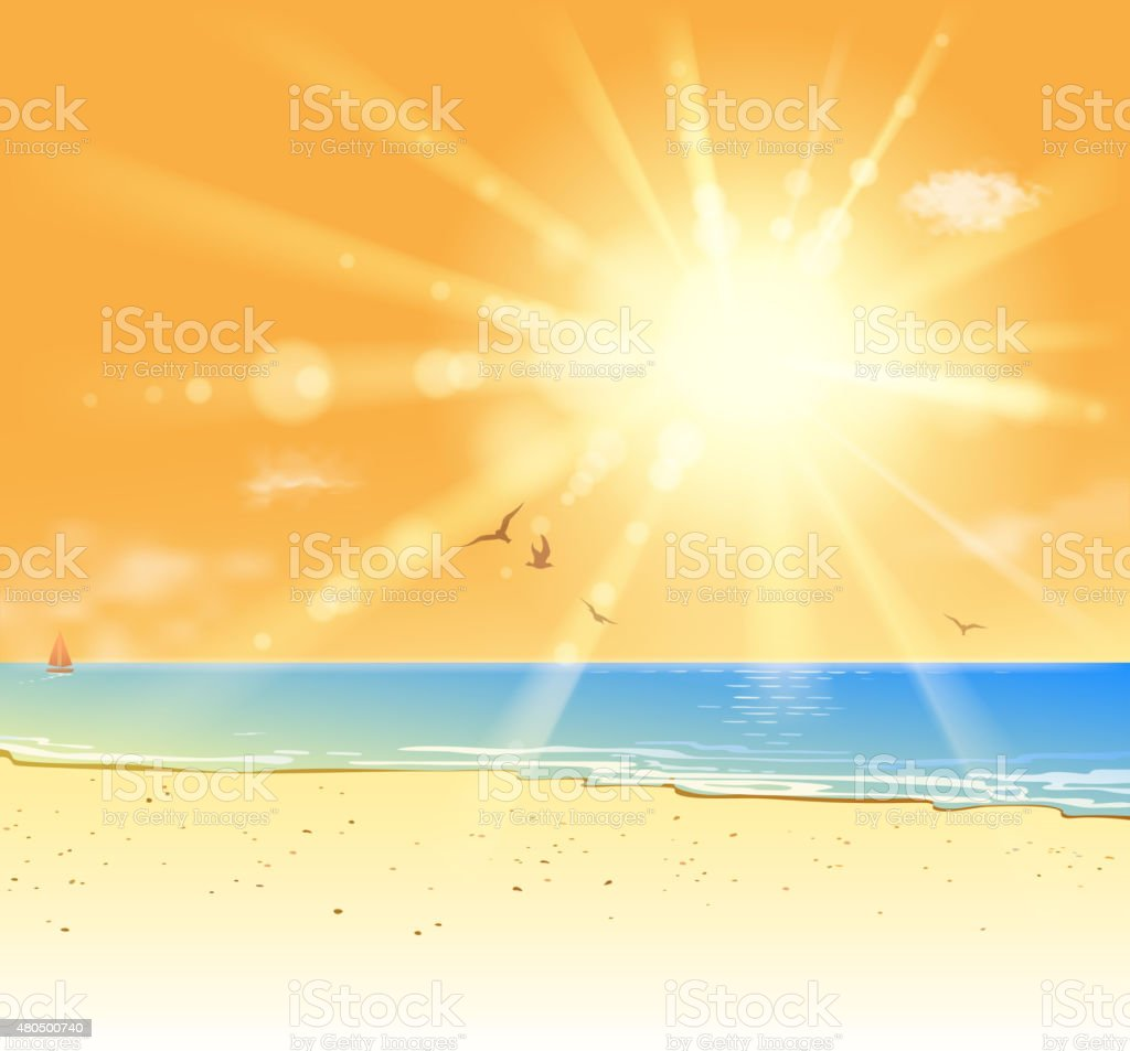 blank coastline vector art illustration