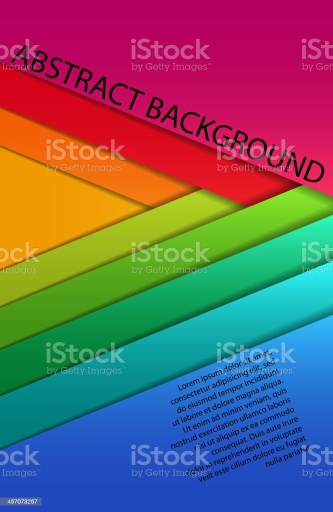 blank colorful paper sheets royalty-free stock vector art