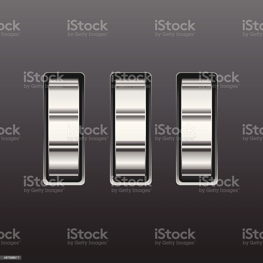 Blank combination lock vector art illustration