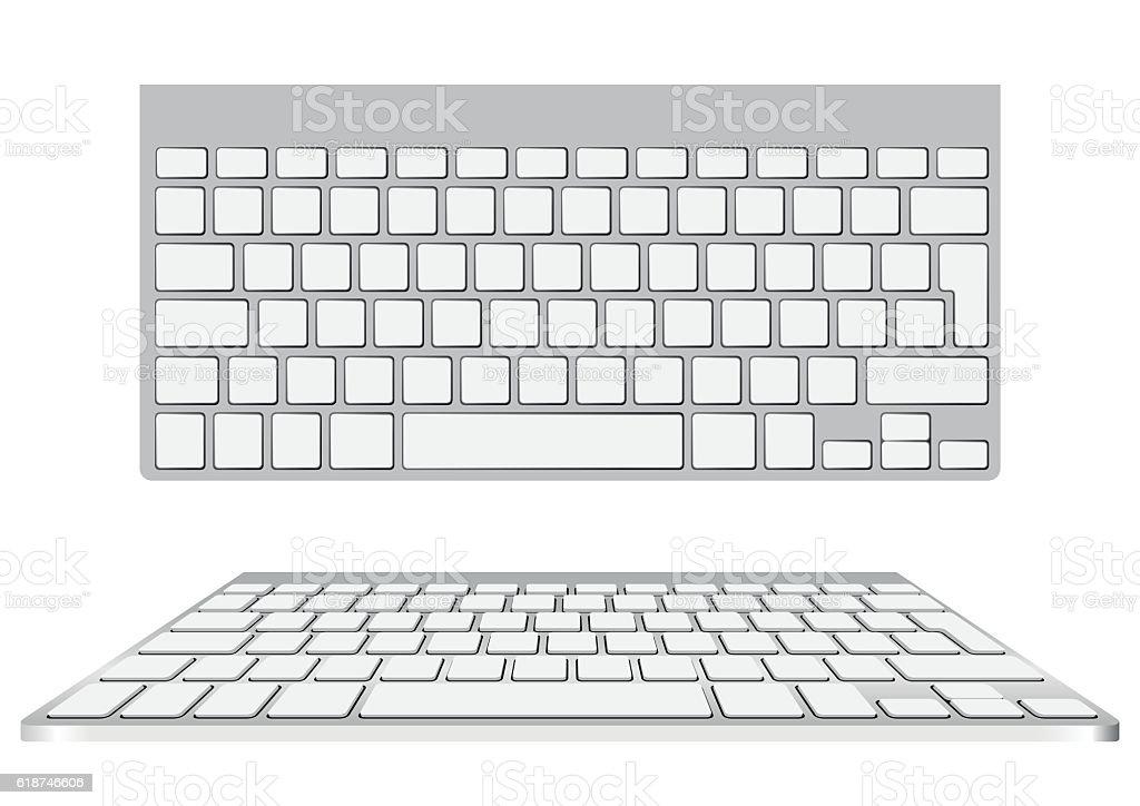 blank computer keyboard vector art illustration