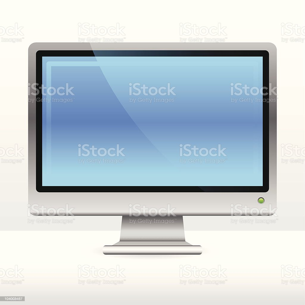 Blank computer monitor royalty-free stock vector art
