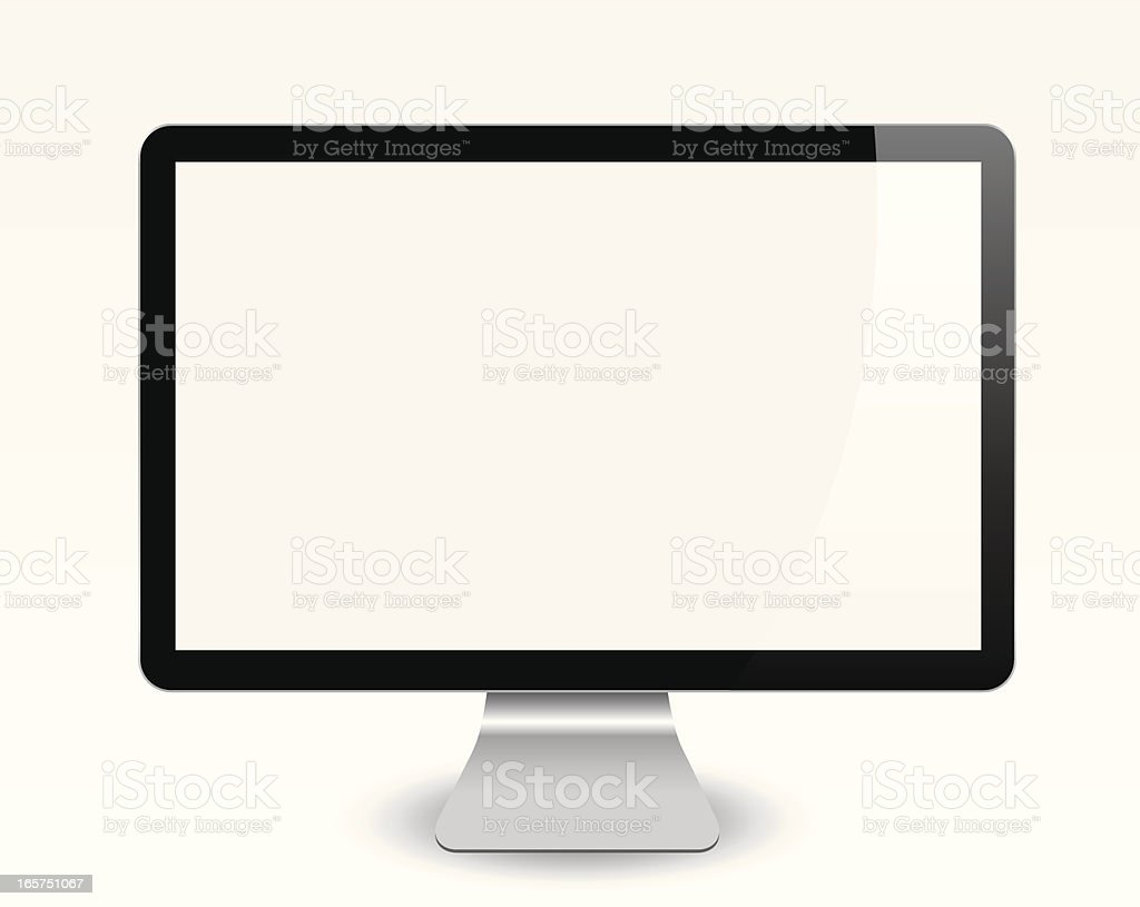 Blank Computer Screen vector art illustration