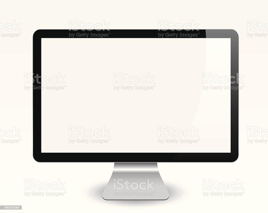 Blank Computer Screen vector art illustration