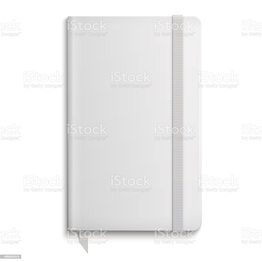 Blank copybook template with elastic band. royalty-free stock vector art