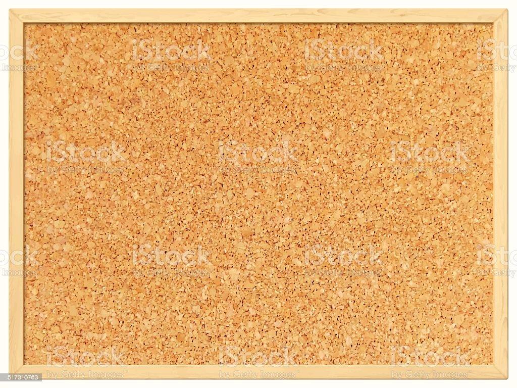 Blank Cork Board - Cork Background vector art illustration