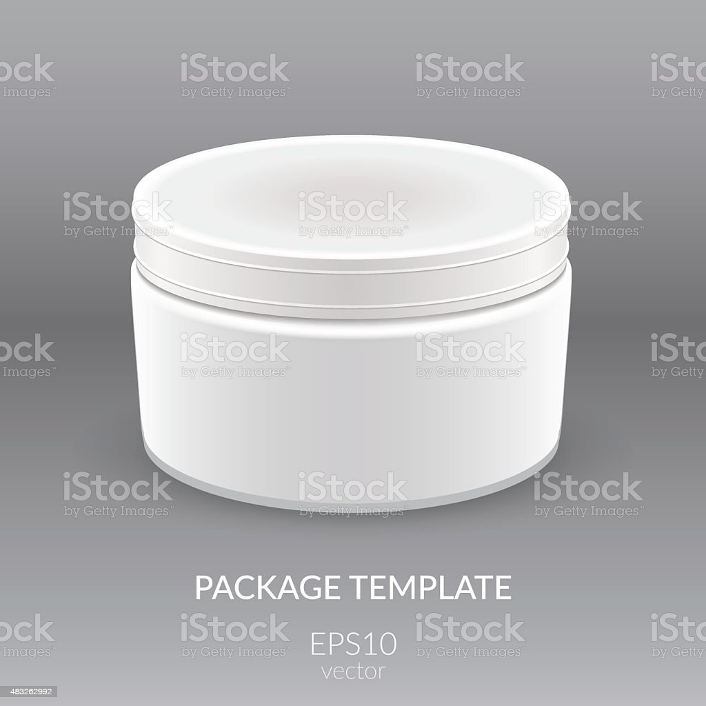 Blank Cosmetic Container vector art illustration