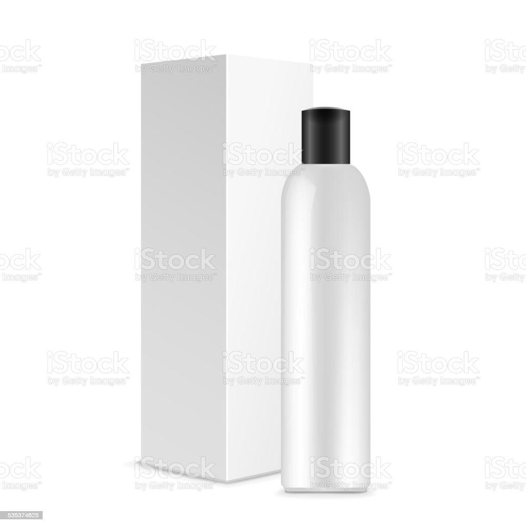 blank cosmetics package vector art illustration