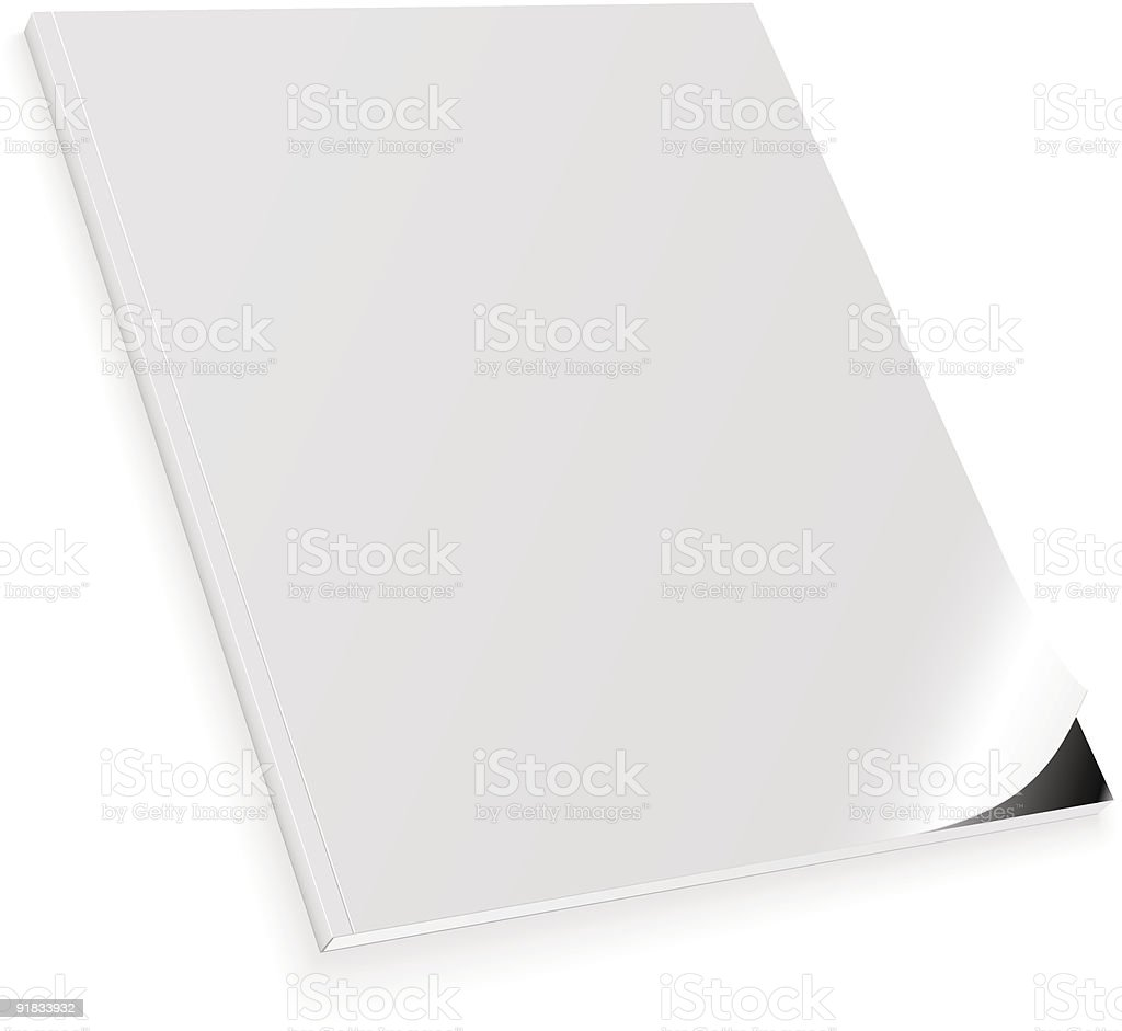 Blank cover page of magazine on white background royalty-free stock vector art