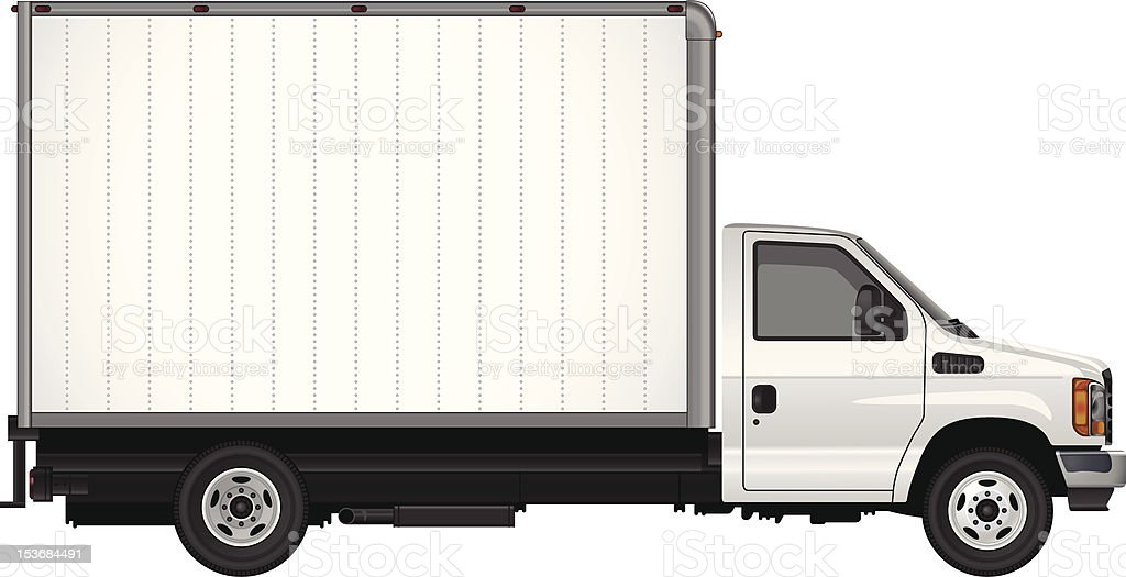 Blank Cube Van Vector royalty-free stock vector art