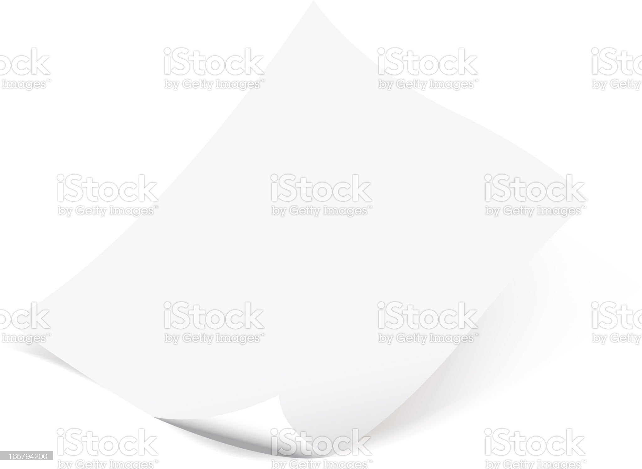 blank curled paper royalty-free stock vector art