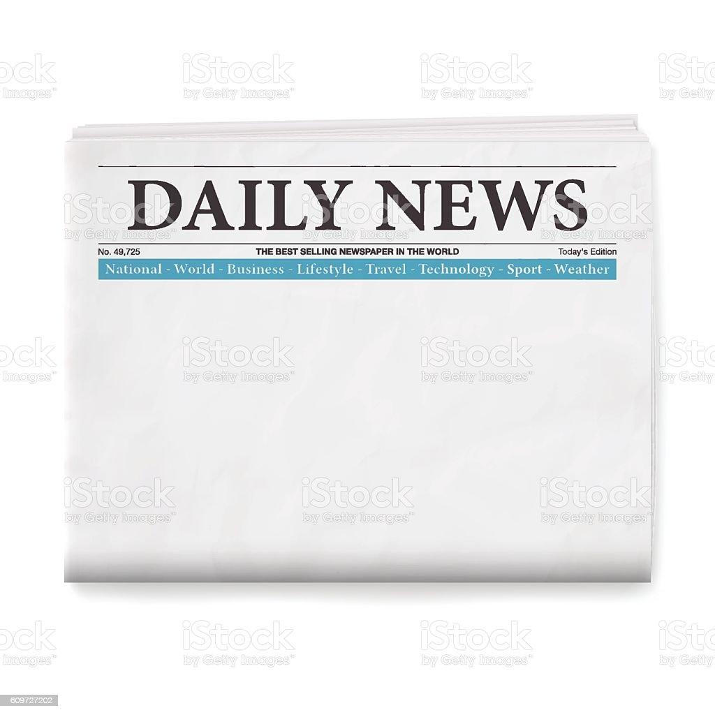 Blank Daily Newspaper vector art illustration