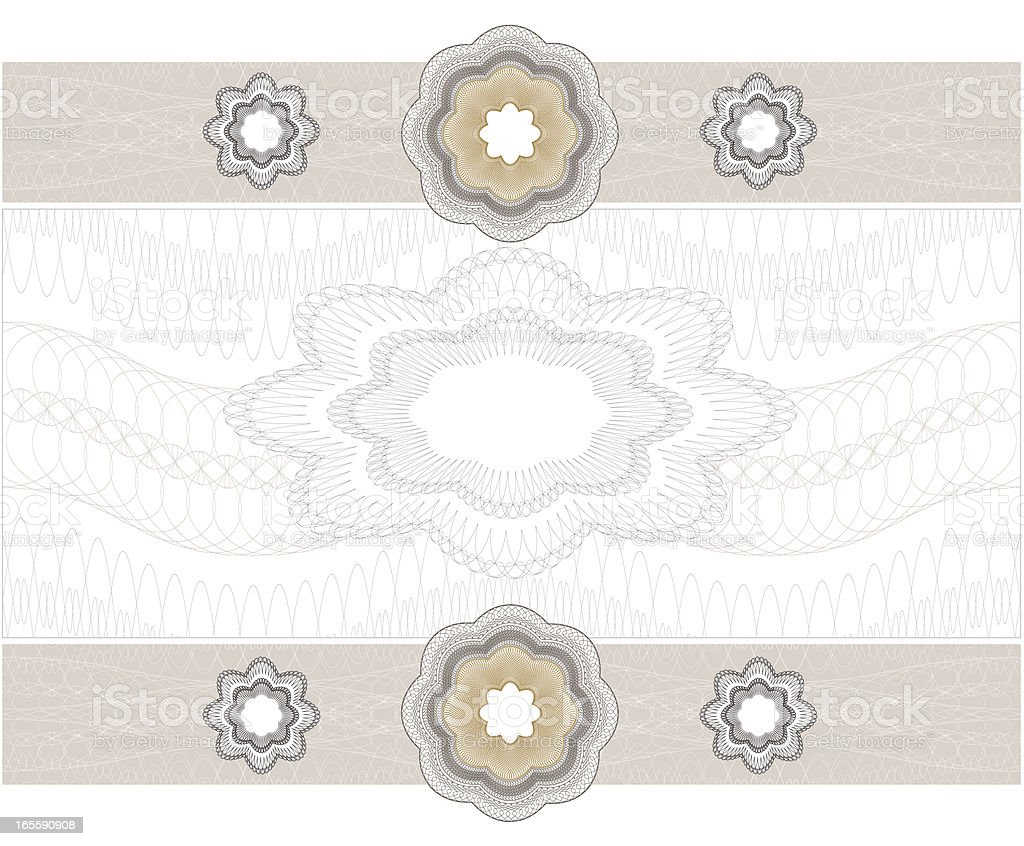 Blank Diploma  Certificate  /  Weding Card royalty-free stock vector art