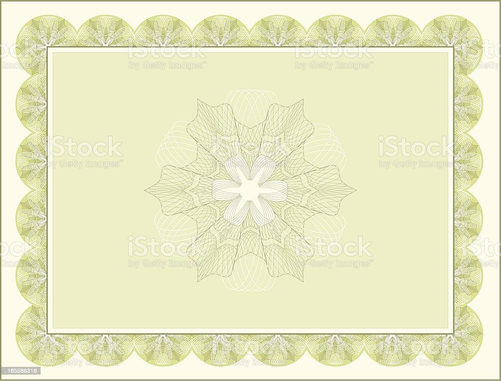 сертификат бланк вектор
