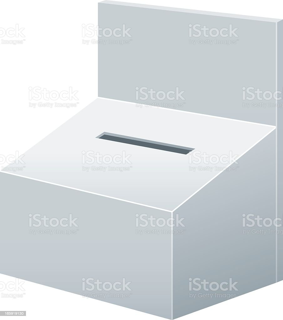Blank Donations Box royalty-free stock vector art