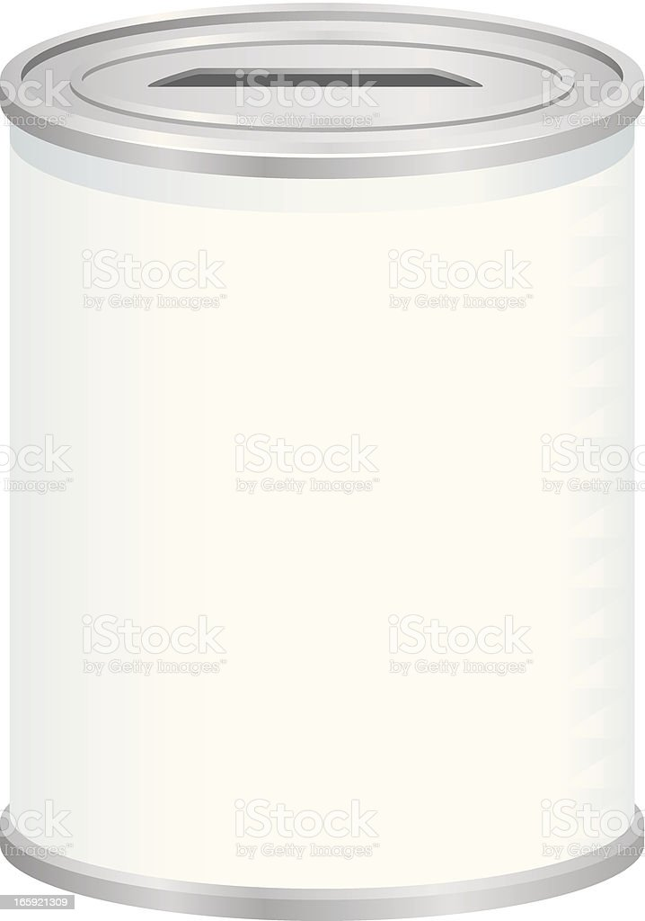Blank Donations Can royalty-free stock vector art