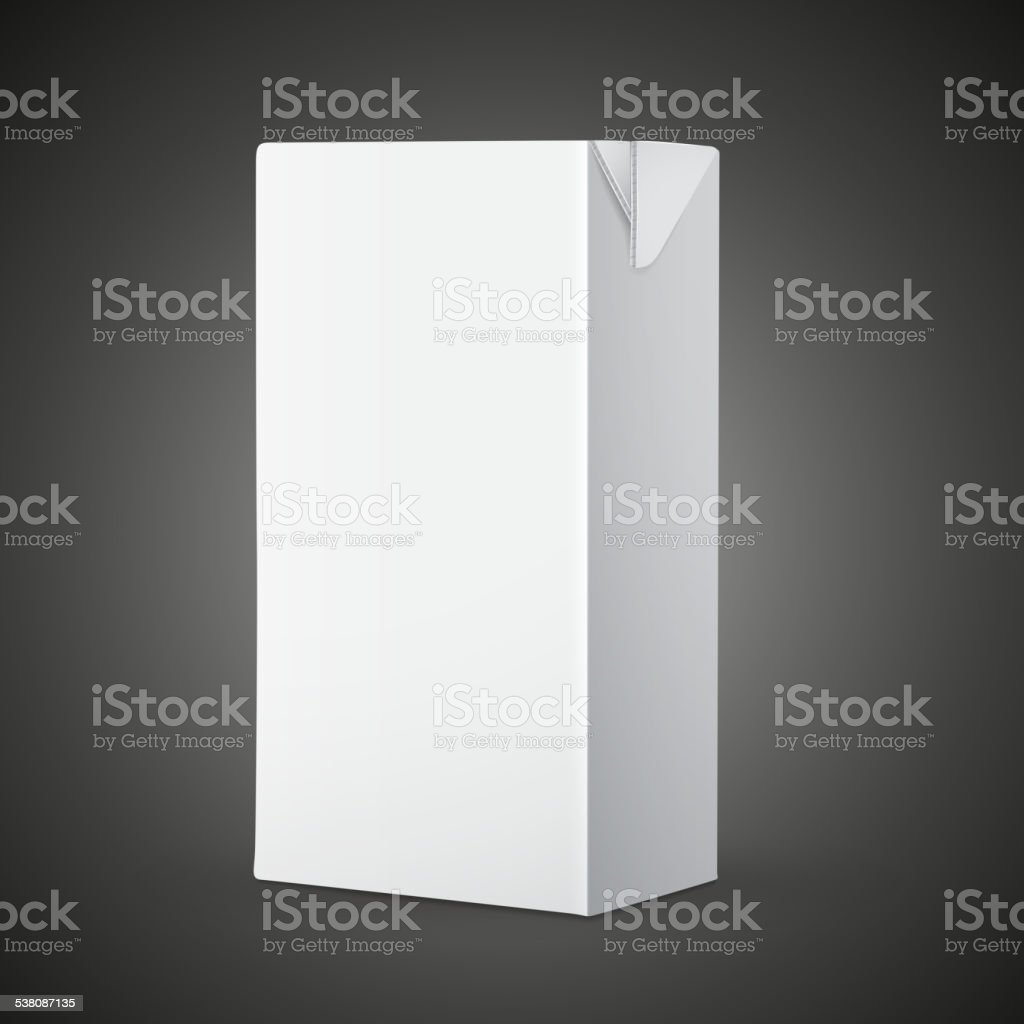 blank drink carton package vector art illustration