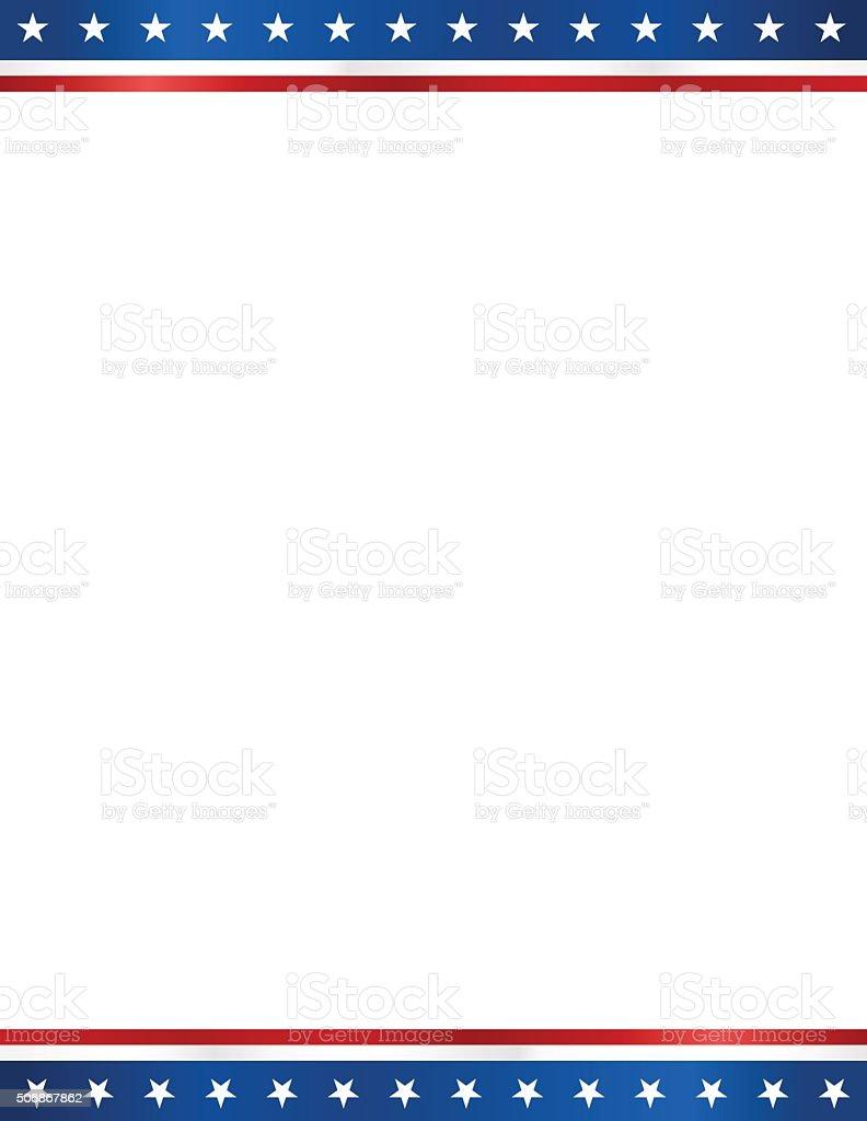 USA blank  election design template in letter format white background vector art illustration