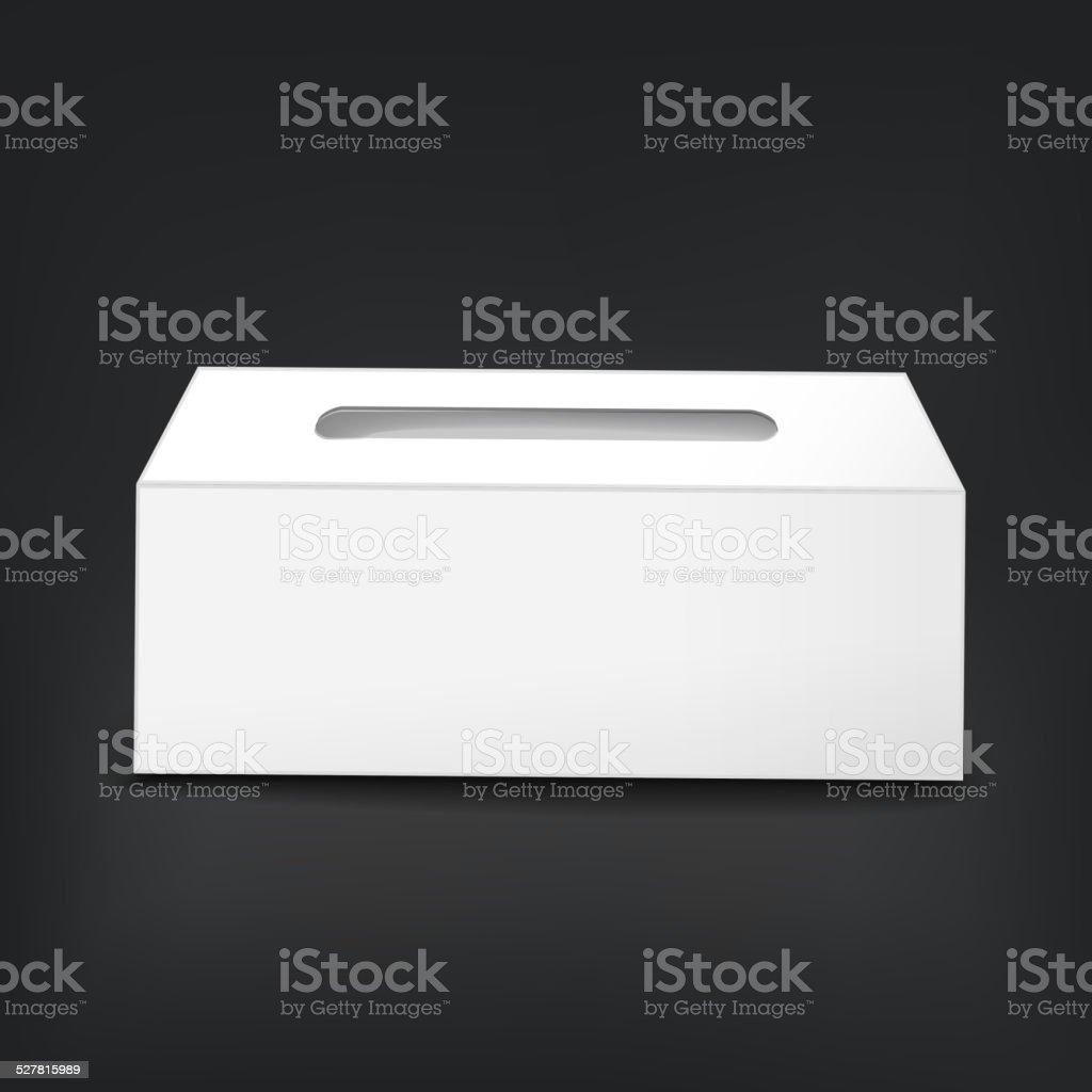 blank empty tissue box vector art illustration