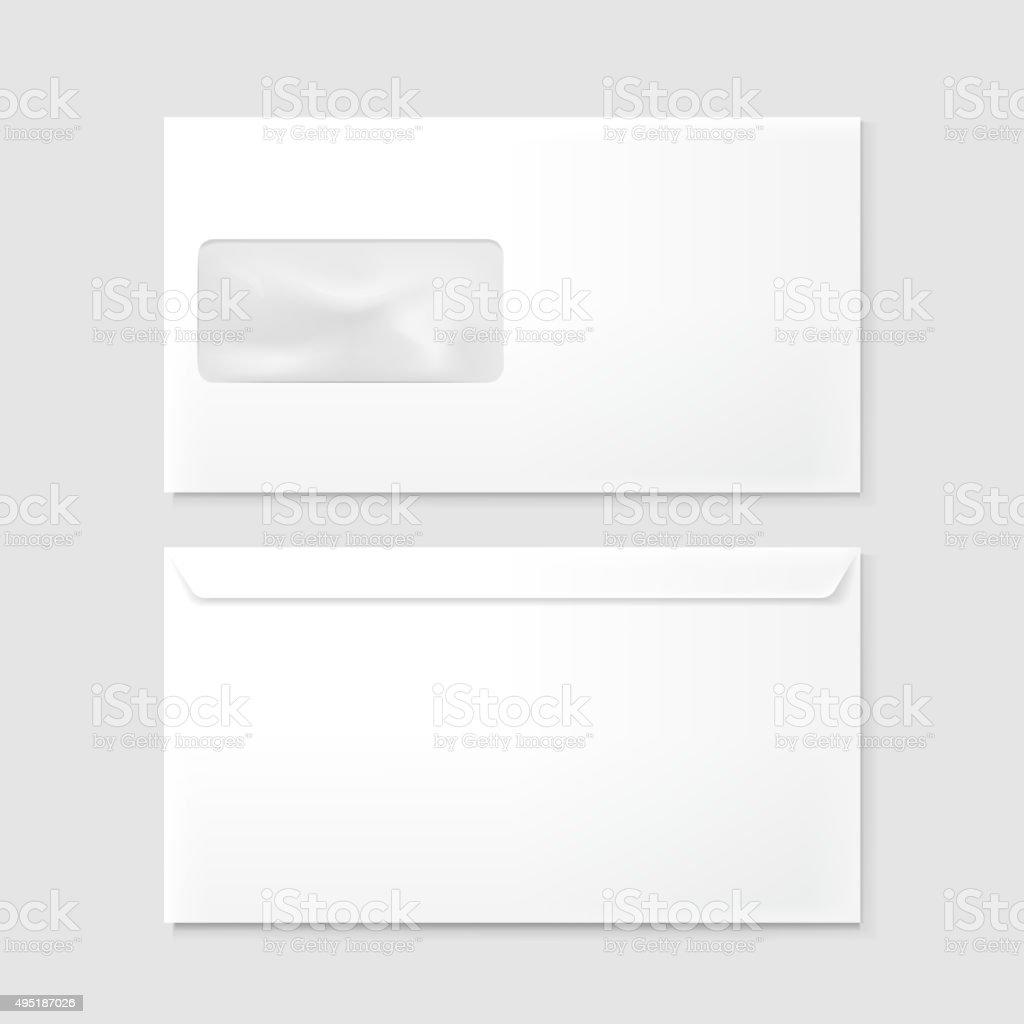 blank envelopes vector art illustration