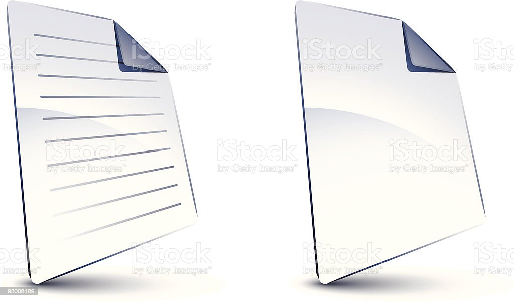 Blank files royalty-free stock vector art
