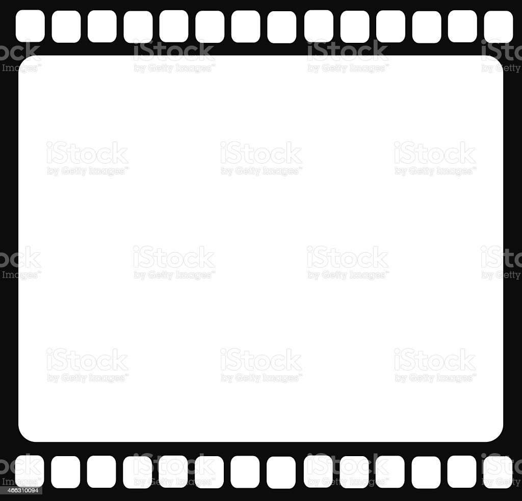 Blank film strip isolated vector illustration vector art illustration