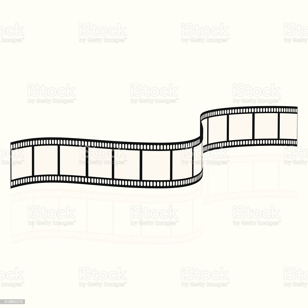 Blank film strip vector art illustration