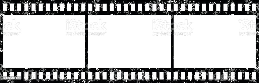 blank film strip vector art illustration