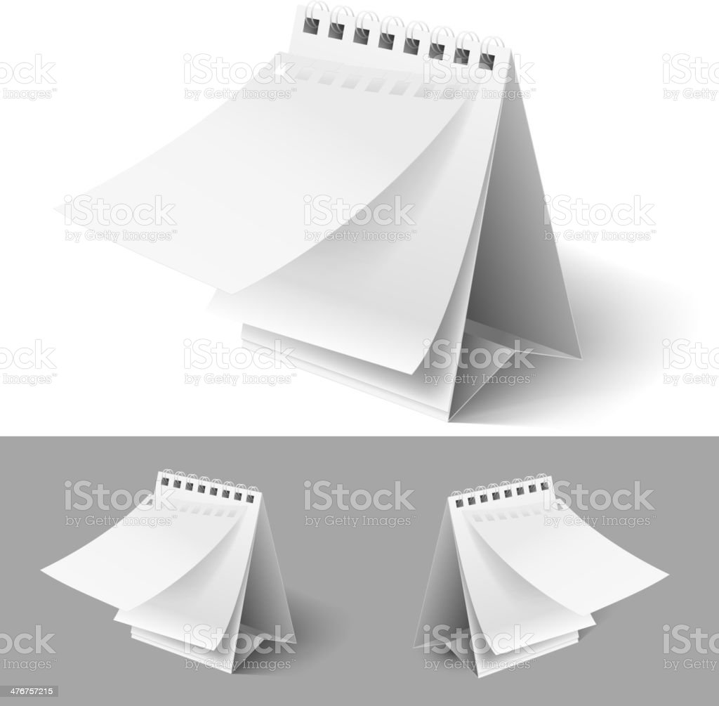 Blank flip calendars vector art illustration