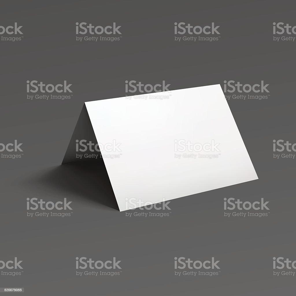 Blank fold paper brochure. vector art illustration