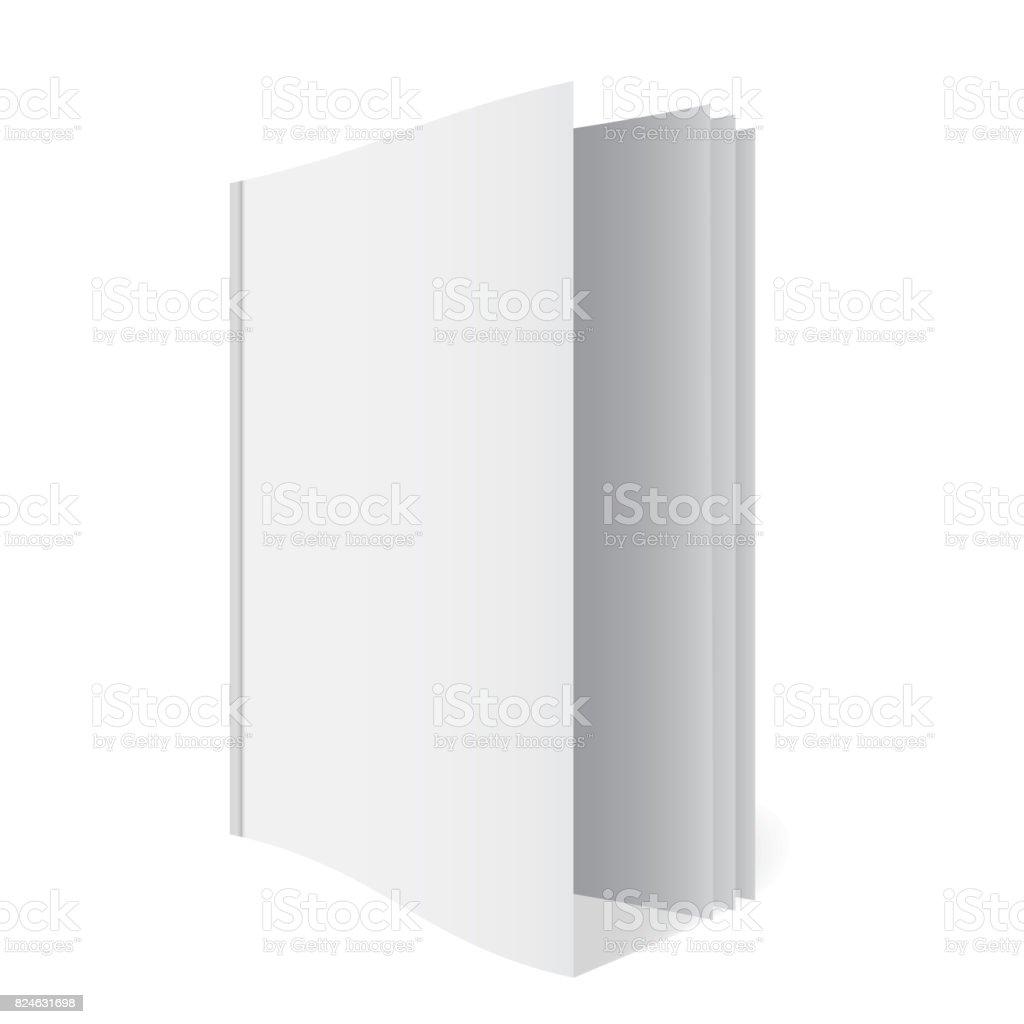 Blank folder A4 size mockup vector art illustration
